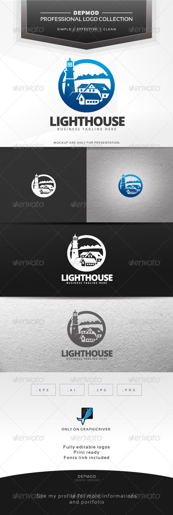 GraphicRiver Lighthouse Logo 6586296