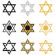 Jewish Stars, Religious Icon Set, Vector - GraphicRiver Item for Sale