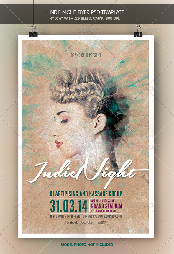 GraphicRiver Indie Night Flyer Template 6586804