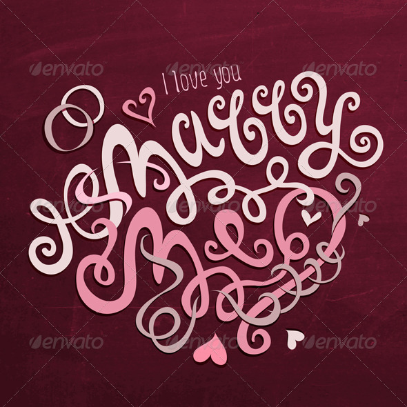GraphicRiver Marry Me Hand Lettering 6586917