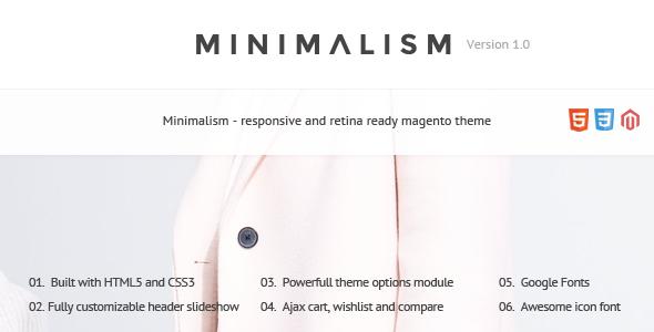 ThemeForest Minimalism Responsive & Retina Magento Theme 6587068