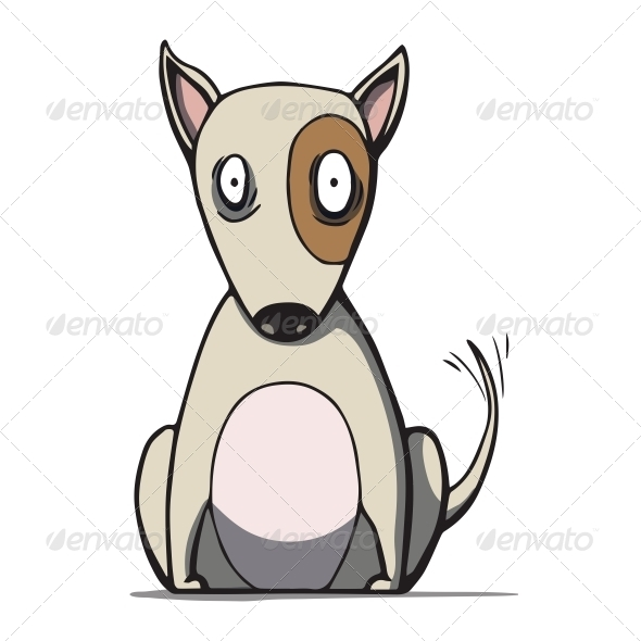 GraphicRiver Cartoon Bull Terrier Dog 6587108