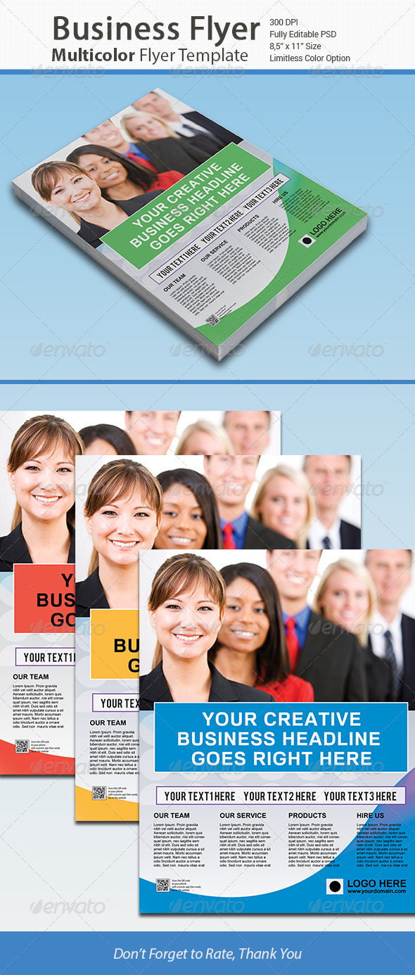 GraphicRiver Colorful Business Corporate Flyer 6587971
