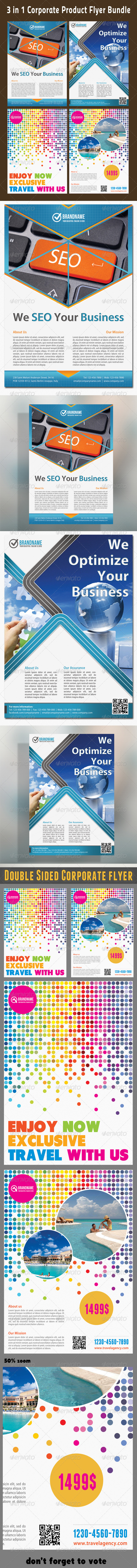 GraphicRiver 3 in 1 Corporate Flyers Bundle 02 6588140