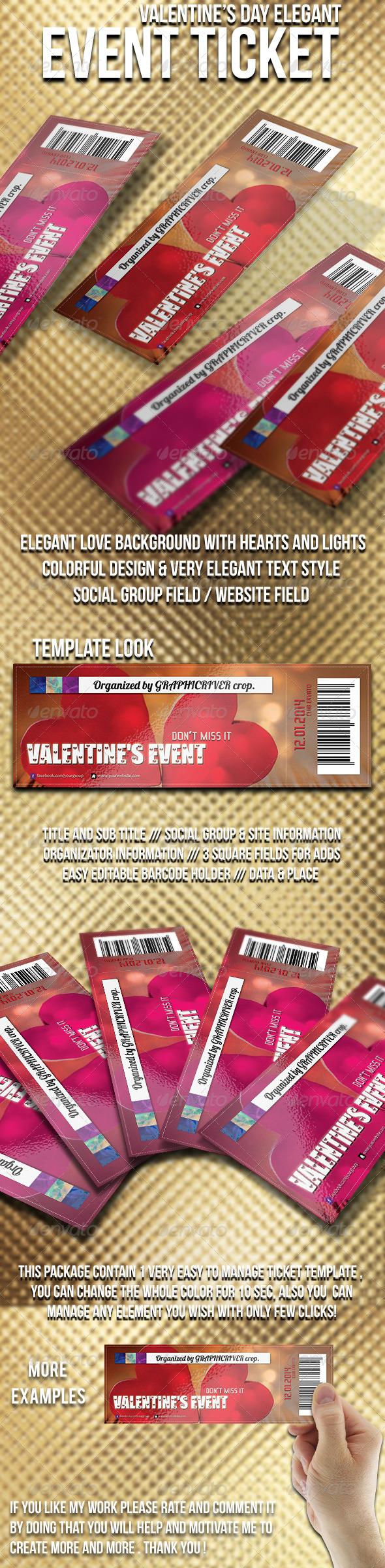 GraphicRiver Valentine s Day TICKET 6588283