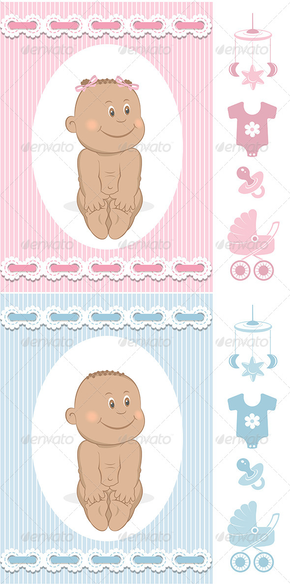 GraphicRiver African Babies Set 6589365