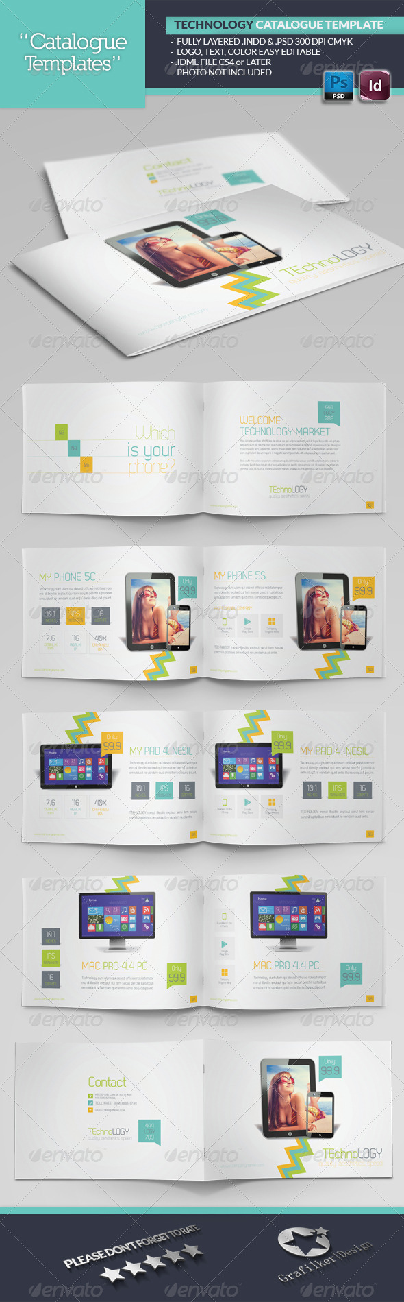 GraphicRiver Tecnology Catalogue Template 6589389