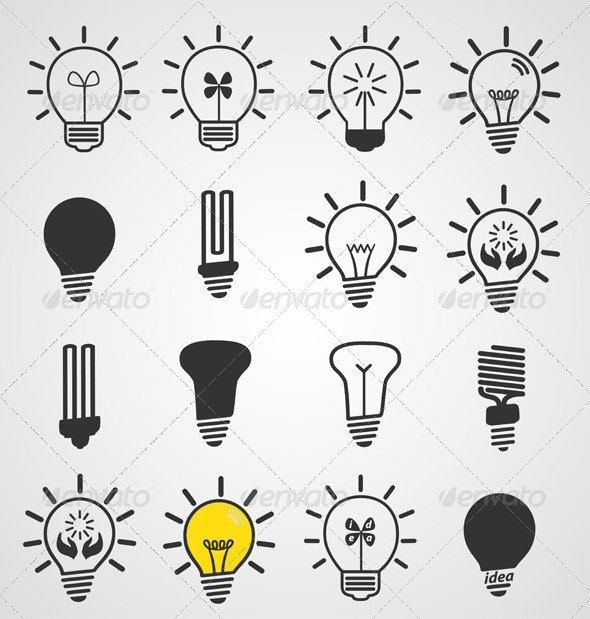 GraphicRiver Light Bulb Icons 6589395