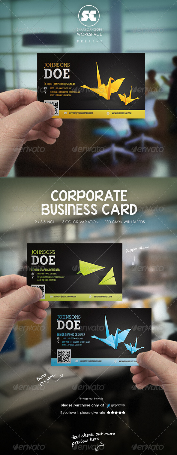 GraphicRiver Modern Corporate Business Card 6589434