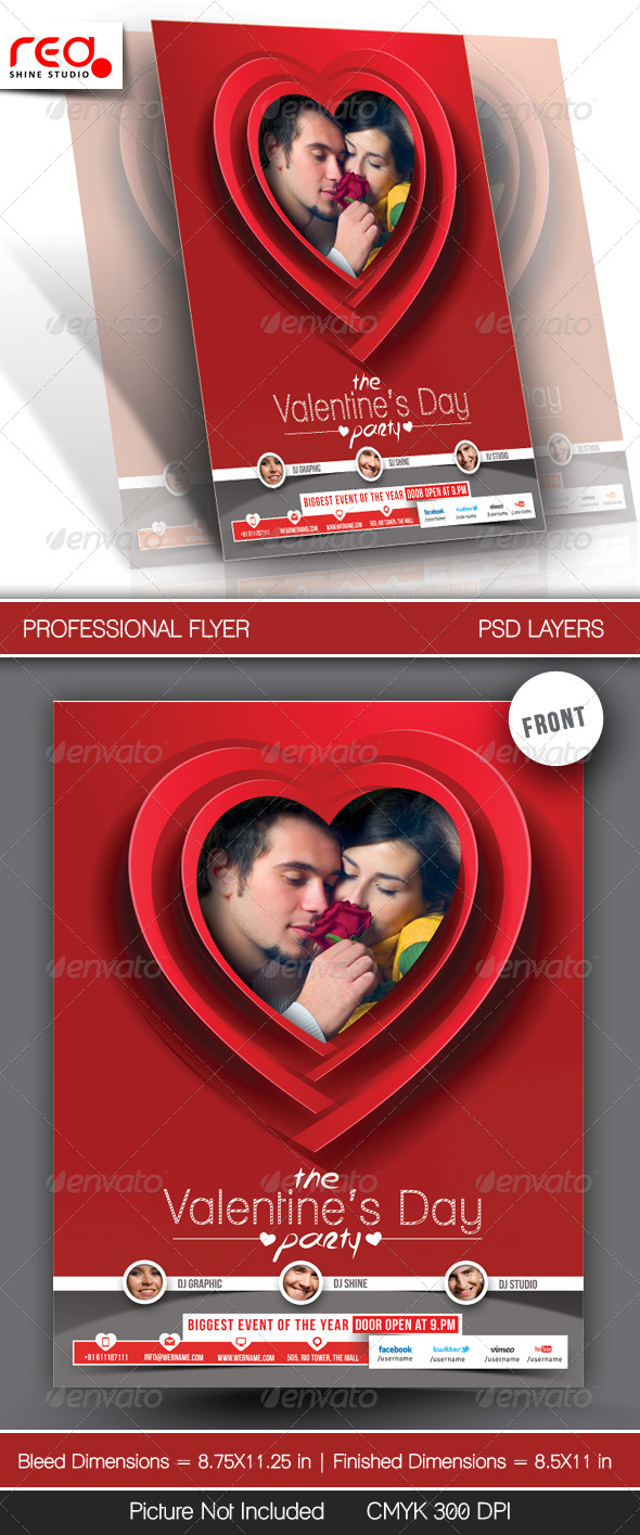 GraphicRiver Valentine s Day Party Flyer Template 6589638