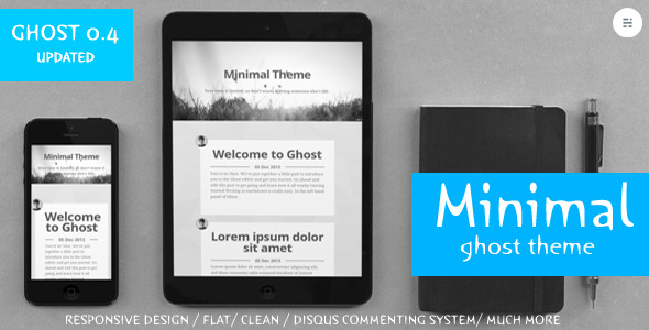 Minimal - Clean Responsive ghost theme