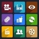 Movie Flat Icons Set 38 - GraphicRiver Item for Sale