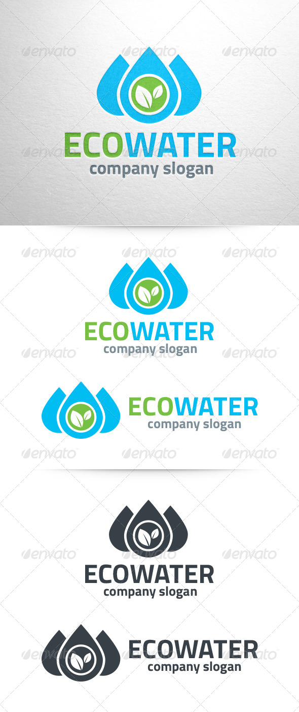 GraphicRiver Eco Water Logo Template 6592126
