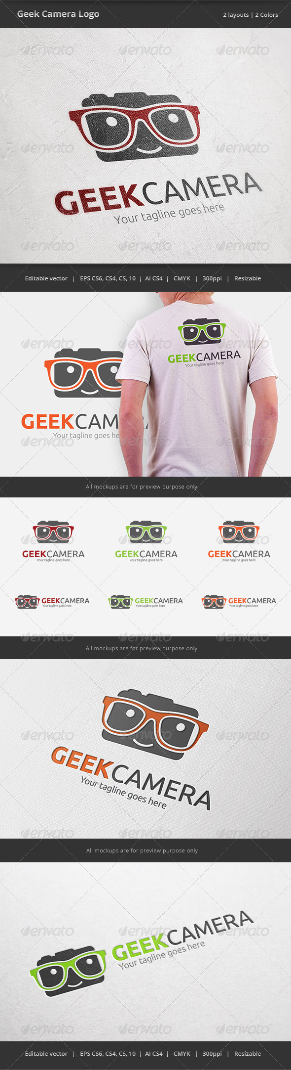 GraphicRiver Geek Camera Logo 6592226
