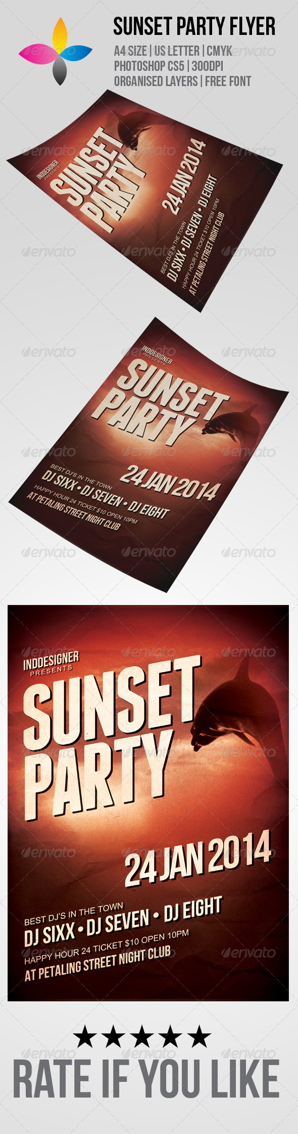 Sunset Party Flyer - Flyers Print Templates