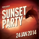 Sunset Party Flyer - GraphicRiver Item for Sale
