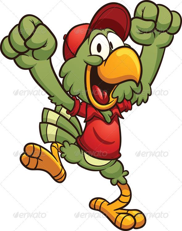 GraphicRiver Cartoon Parrot 6592684