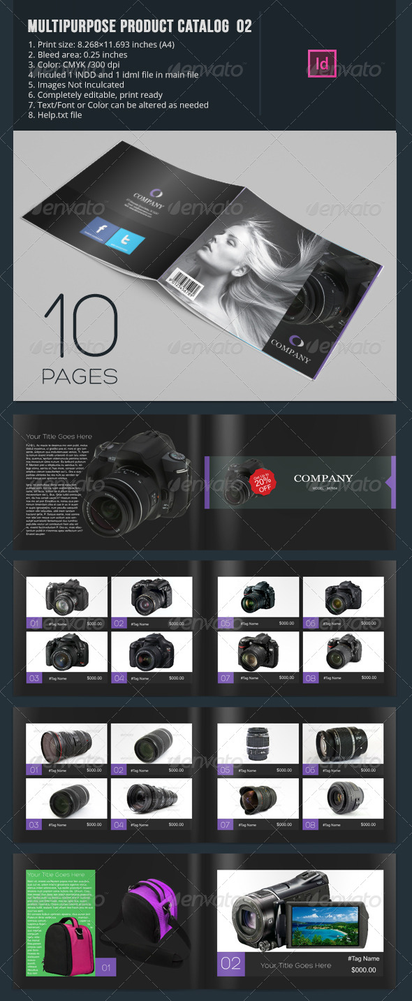 GraphicRiver Multipurpose Product Catalog 10 Pages 6592715