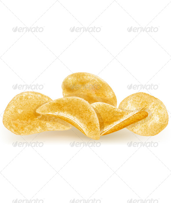 GraphicRiver Heap of Potato Chips 6527537