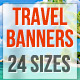 Travel & Holidays Banners - GraphicRiver Item for Sale