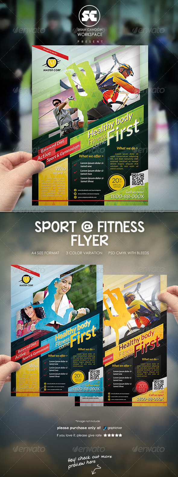 GraphicRiver Sports & Fitness Flyer Magazine Ads 6592989