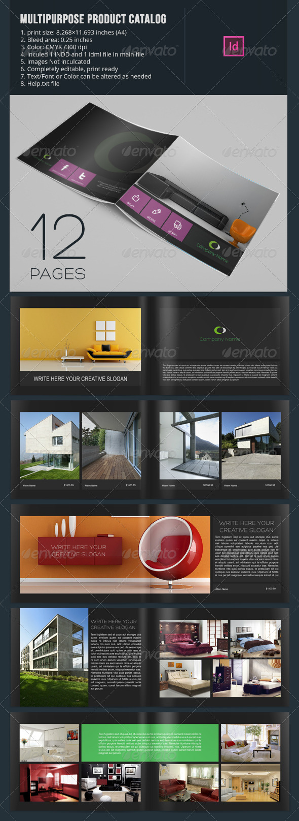 GraphicRiver Multipurpose Product Catalog 12 Pages 6586295