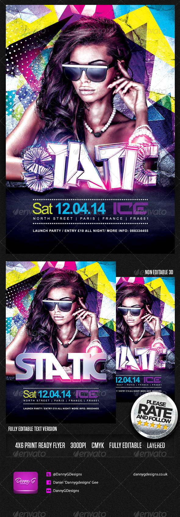 Static Flyer Template PSD - Clubs & Parties Events