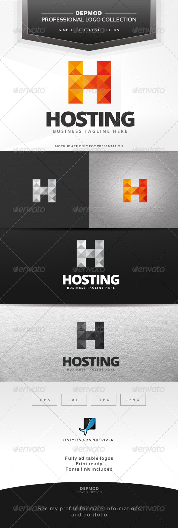 GraphicRiver Hosting Logo 6593998