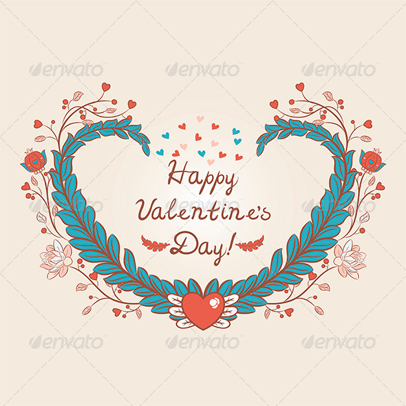 GraphicRiver Heart Valentines Day Card 6594000