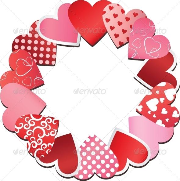 GraphicRiver Hearts Frame 6594603