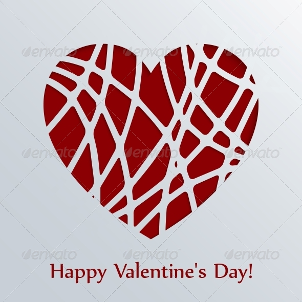 GraphicRiver Valentines Day Card with Heart 6594974