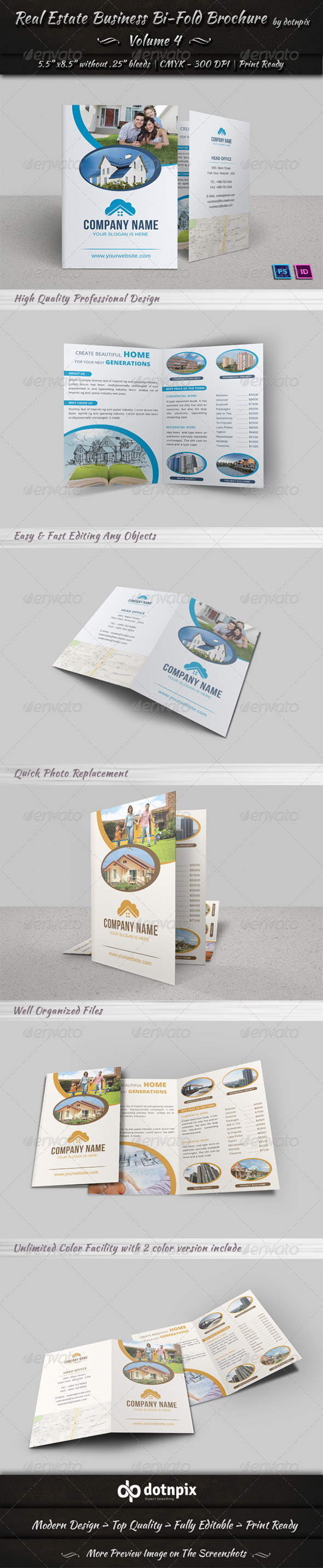 GraphicRiver Real Estate Business Bi-Fold Brochure Volume 4 6584127