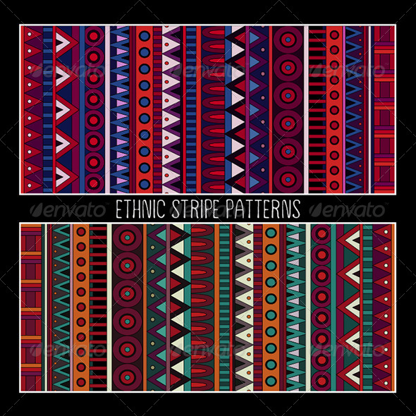 GraphicRiver Abstract Tribal Ethnic Patterns 6585748