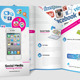 Mobile & Social Media Tri - fold Brochure - GraphicRiver Item for Sale
