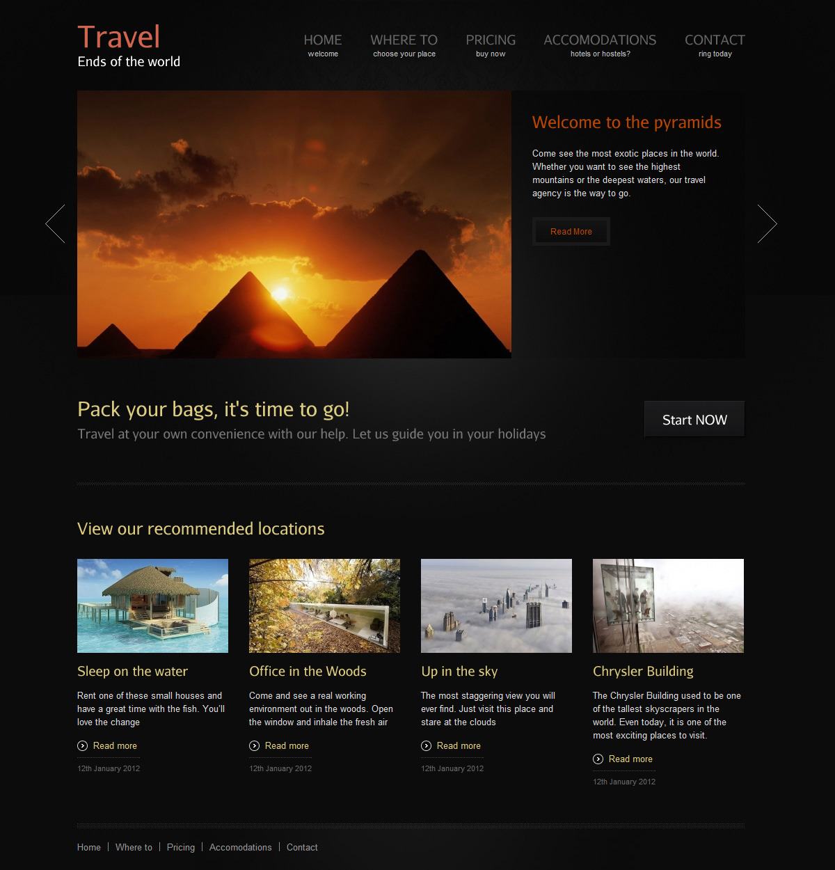 reFresh - Powerful Clean & Elegant WordPress Theme - Traveling Agency Demo - Showcase