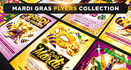 Mardi gras flyers collection