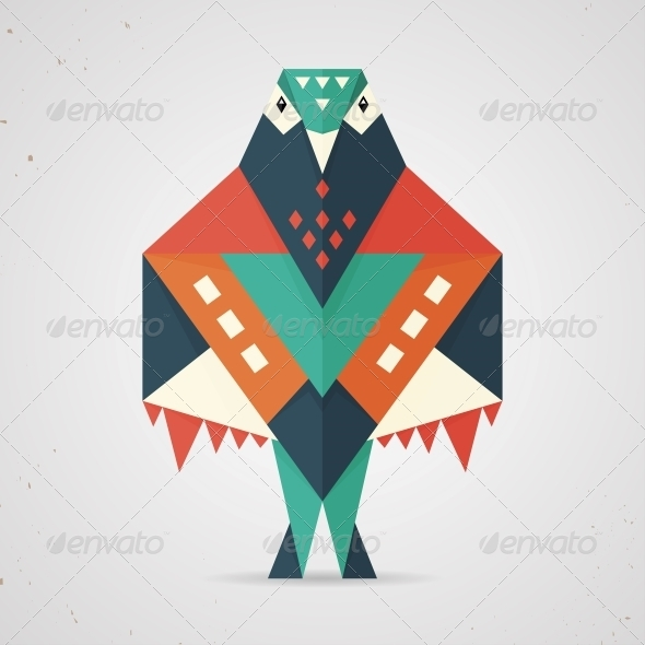 GraphicRiver Colourful origami pigeon or dove 6598858