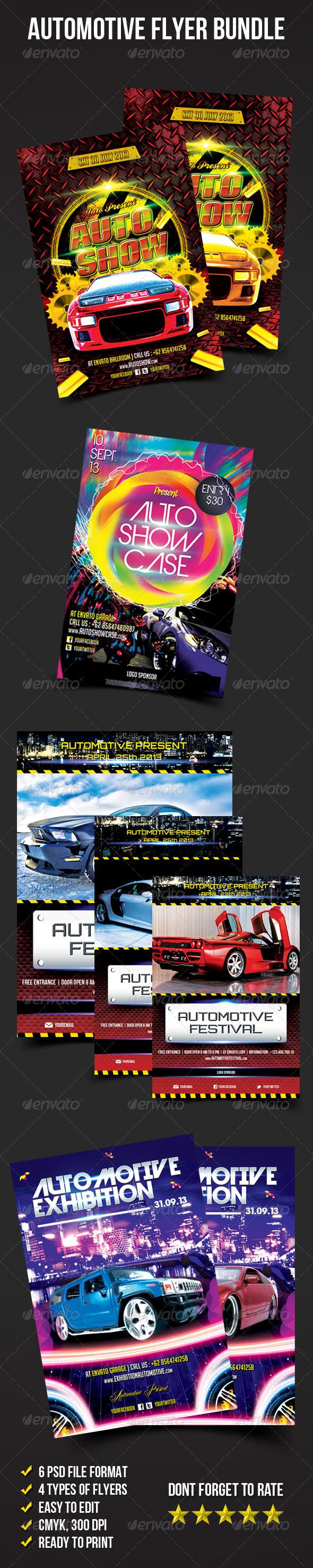 GraphicRiver Flyer Bundle 02 Automotive Flyer 6582161