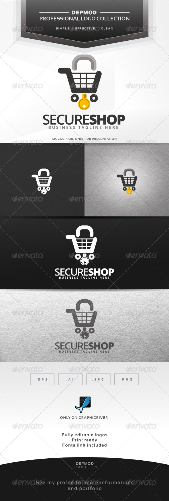 GraphicRiver Secure Shop Logo 6599714
