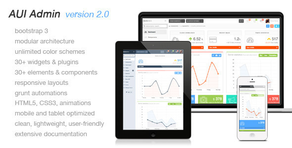 Agile admin responsive user interface (Admin Templates) images