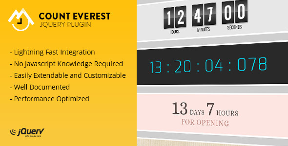 CodeCanyon Count Everest Countdown light-weight jQuery Plugin 6466098