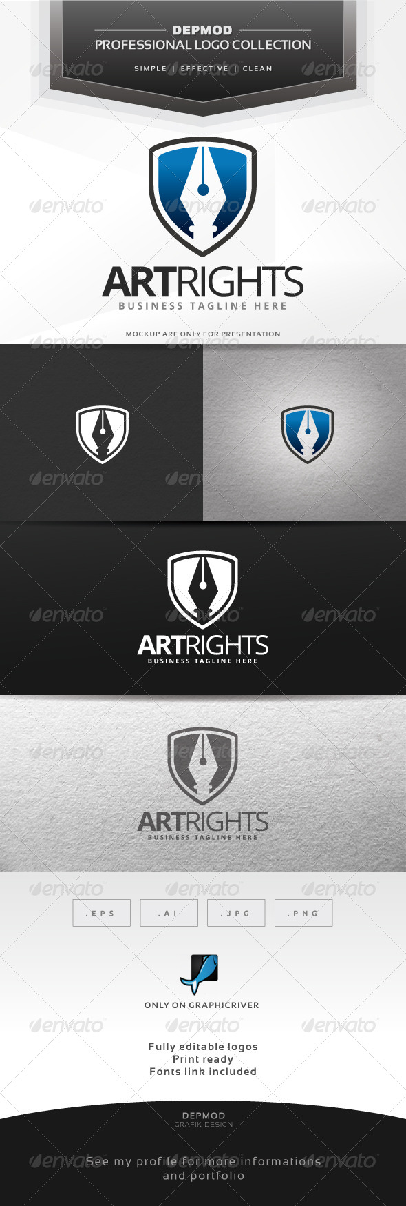GraphicRiver Art Rights Logo 6601028