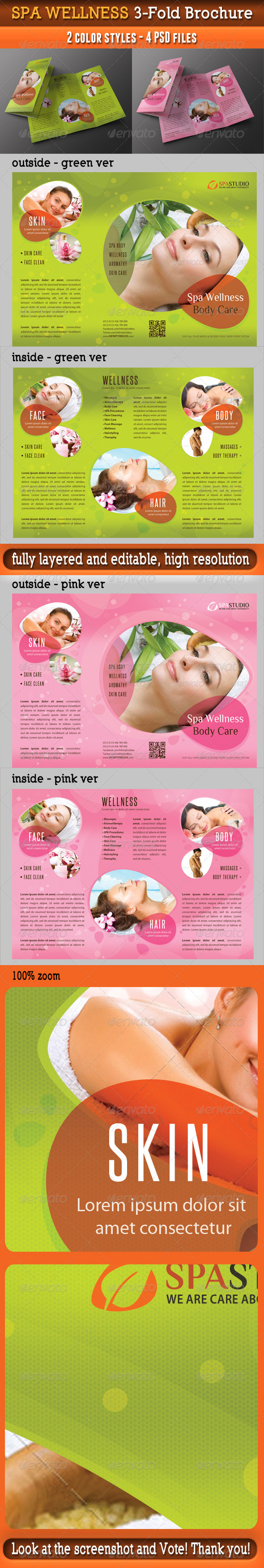 Spa Wellness 3-Fold Brochure 02 - Informational Brochures