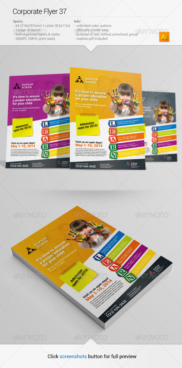 GraphicRiver Corporate Flyer 37 6602004