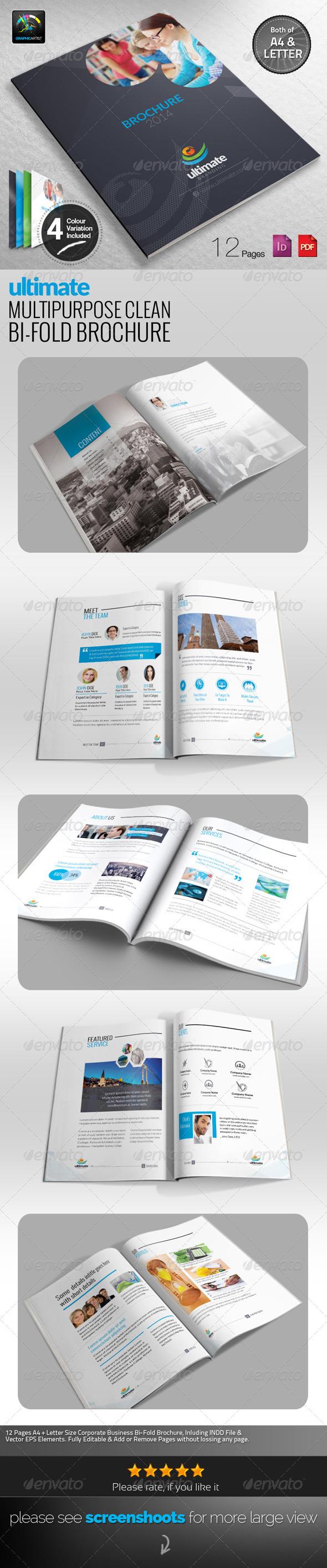 GraphicRiver Ultimate Multipurpose Clean Bi-Fold Brochure 6574831