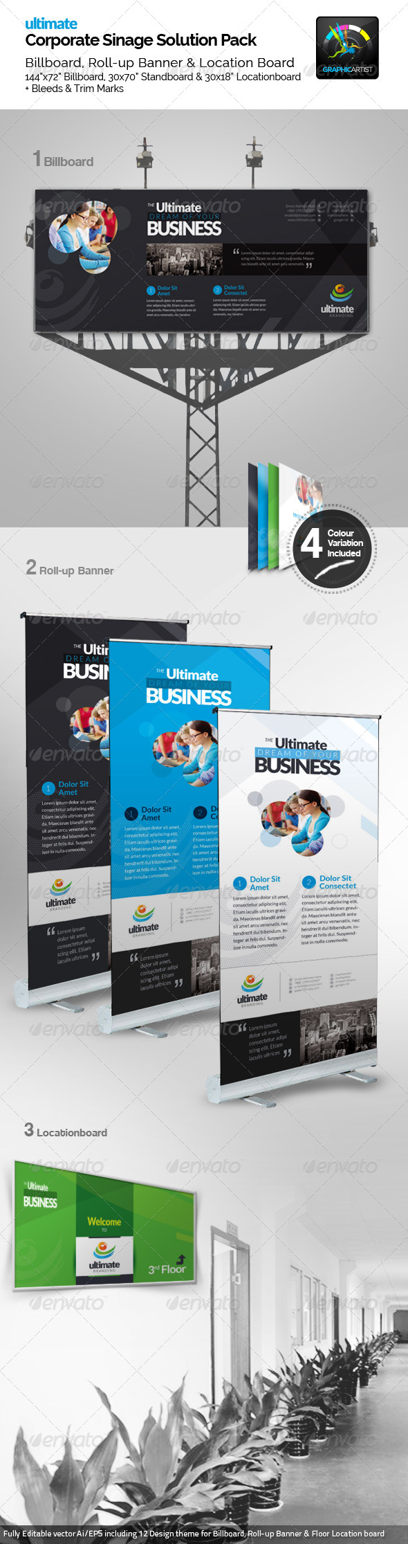 GraphicRiver Ultimate Corporate Signage Pack 6584047