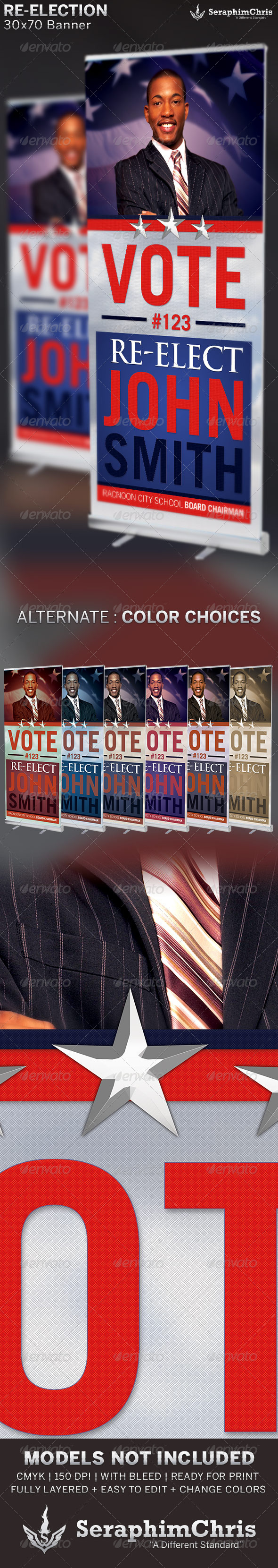 GraphicRiver Re-Election Banner Template 6603620