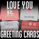 Love You Greeting Card Pack I - GraphicRiver Item for Sale