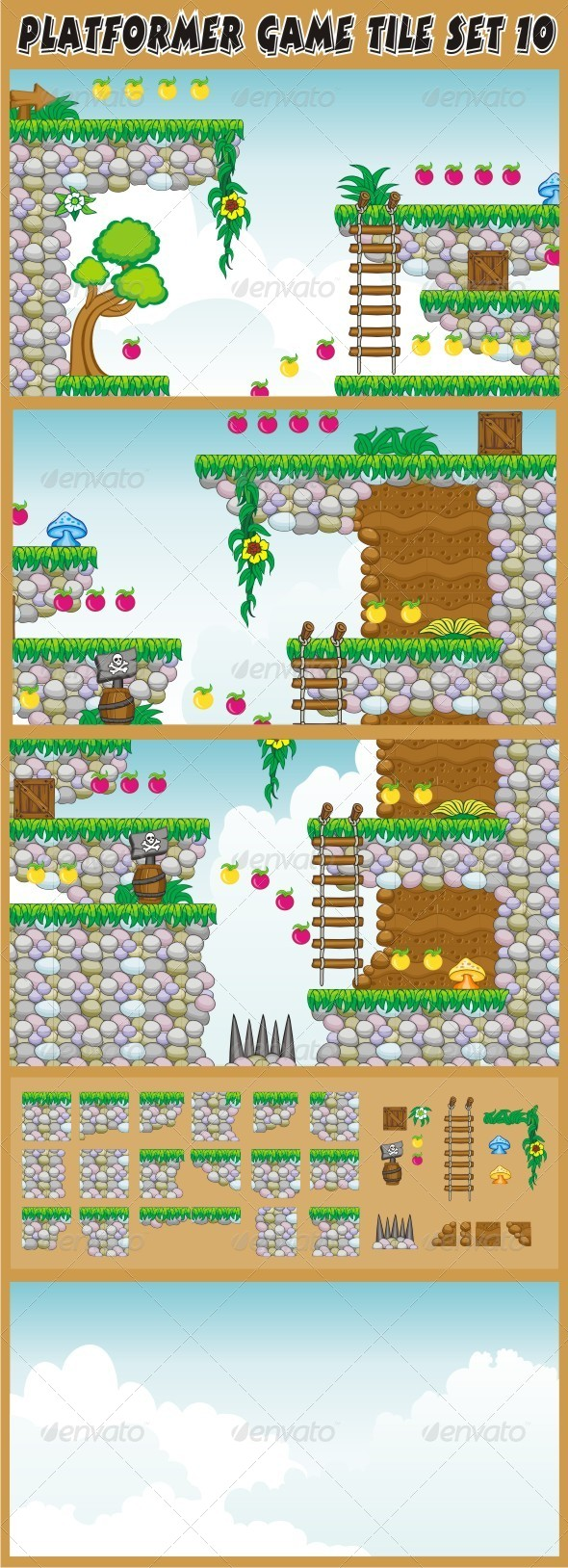 GraphicRiver Platformer Game Tile Set 10 6603898
