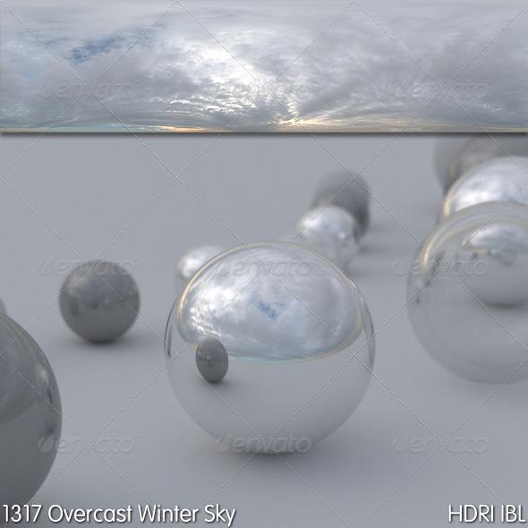 3DOcean HDRI IBL 1317 Overcast Winter Sky 6603970